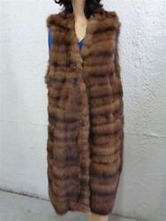 BRAND NEW NATURAL CANADIAN SABLE FUR VEST WOMEN WOMAN SIZE ALL
