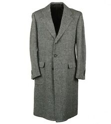 Cesare Attolini Soft-woven Tweed Patterned Wool Coat 40r Eu 50 Overcoat