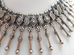 Amazing Statement Sterling Silver India Ethnic Necklace 88 Grams  200.490