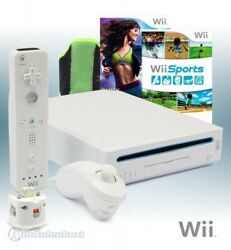 Wii Console White + Wii Sports + Zumba Fitness 2 + Fitness-guertel + Official Mo