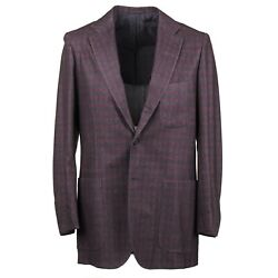 Kiton Slim Soft-constructed Mid-weight Flannel Cashmere Sport Coat 42l Eu 52