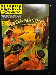 Classics Illustrated 90 Green Mansions By W.h. Hudson Hrn 89 1st 1951 Fine+