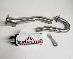 Empire Shorty White Cyclone Series Full System Exhaust Pipe Trx 450r 2004 2005