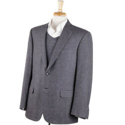Nwt 4495 Brioni Soft-woven Gray Wool-cashmere-silk Sport Coat 42 L 'colosseo'