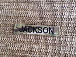 Army Military Surplus Multicam Breast Last Name Tape Jackson Action Stonewall Gi