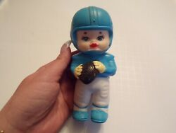 Vintage Squeeky Toy Boy Holding Football