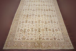 Antique 15X36 Indian Oversize Rug Hand-Knotted Oriental Carpet circa 1900