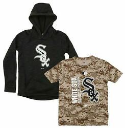 Majestic MLB Youth Chicago White Sox Primary Icon Hoodie and Tee Combo $34.95