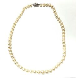 Old Antique Vintage Pearl Necklace ,silver Lock East European Victorian Jewelry
