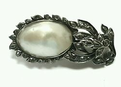 Old Antique Vintage Diamond 18k Gold And Silver Pin Broochesvictorian Jewelry.