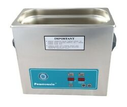 New Crest Powersonic P360d 132khz Ultrasonic Cleaner Power Control With Basket