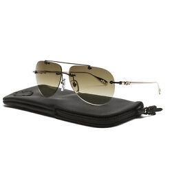 Chrome Hearts Stains V Sunglasses Chocolate Gold Plated Frame Brown Gradient