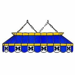Ncaa Michigan Wolverines 40 Stained Glass Pool Table Light-nib-made In Usa