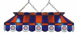 Mlb Chicago Cubs Stained Glass Pool Table Light - New - Made In U.s.a.