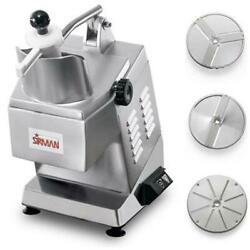 Sirman 40752558w3 Continuous Feed Operation Electric Food Processor 3/4 Hp