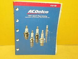 1997 Ac Spark Plug Catalog / Manual 485 Pages Book Chart Sign Application