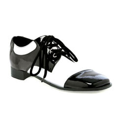 Ellie Shoes Fred Oxford Black White Zoot Pimp Gangster Costume Shoe 121-fred