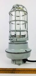 Vintage Industrial Miners Automotive Metal Glass 125v Corded Electrical Lantern