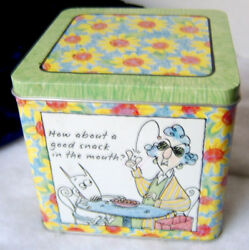 Hallmark Maxine Tin / How About A Good Snack In The Mouth Shoe Box Tin 49
