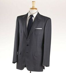 Nwt 6250 Brioni Gray-sky Blue Stripe Year-round Wool Suit 41 R Modern-fit