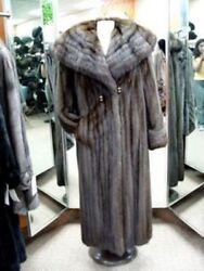 BRAND NEW CANADIAN SABLE FUR COAT WOMEN WOMAN