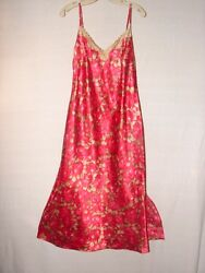 Cato Red Floral Size Medium Lingerie Night gown ~ gorgeous timeless design