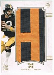 2015 Topps Terry Bradshaw Definitive Collection Veteran Nameplate Letter H 1/1