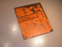 Case Ingersoll 448 Tractor Mower Dash Tower Cover Plate