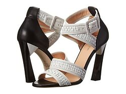 Nib 1095 Calvin Klein Collection Lux Vera Woven Sandals Heels Shoes 10 Italy