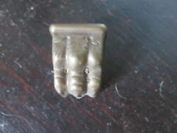 Small Brass Colored Duncan Phyfe Foot Leg Cap Furniture Hardware Parts Pieces