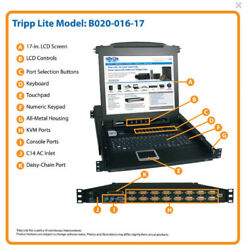 Tripp Lite 16-Port 1U Rack-Mount Console KVM Switch with 17-in. LCD(B020-016-17)