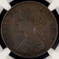 1861 Great Britain Penny [15 Leaves/no Signatures] - Km.749.2 - Ngc Au 50