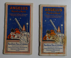 1916and039s Angelus Marshmallows / Cracker Jack Lot Of 2 Mystery Book
