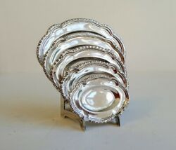 W.b. Meyers Nest Of Graduated Platters On Stand Miniature Sterling Silver Rare