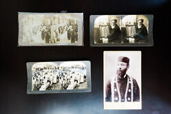 Judaica Early Photograph Postcard Collection With Glass Plates