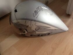 Unique Signed Met Cycle Helmet Button Hill Priaulx Bayliss Pendleton Goodwood