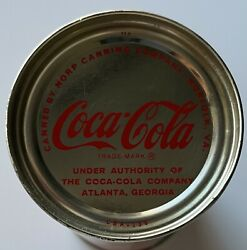 1950s-1960s Coca Cola Soda Can 12 Oz. Flat Top Diamond Sing Canned In Norfolk Va