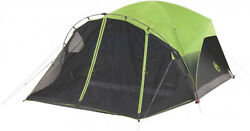 Coleman 6-Person Dark Room Tent with Screen Room in GreenBlack