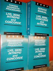 2001 CHRYSLER 300M CONCORDE LHS DODGE INTREPID FACTORY SERVICE MANUALS