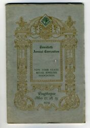 Official Program New York State Retail Jewelers Convention 1929 Poughkeepsie Ny