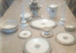 10 5-pc Settings, Inc Candle Holders, Coffee Pot, Serving Bowls And Platters