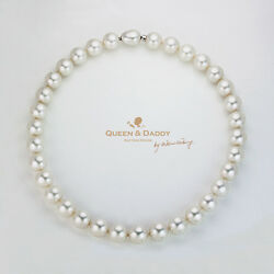 Mumtaz Mahal - 3A quality big size round Australian South Sea Pearl Necklace