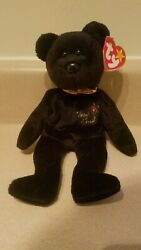 Ty Beanie Baby The End Bear 1999 With Tag Errors - Retired And New