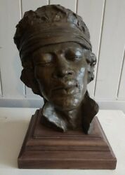 Jimi Hendrix Bronze Bust Head Sculpture Memorabilia Limited Edition Of Only 94