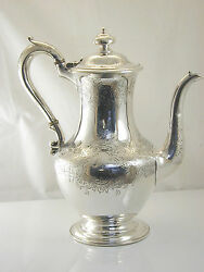 Silver Coffee Chocolate Pot Early Victorian 1843 Walter Morrisse 776.3 Grams