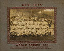 1916 Boston Red Sox Team Cabinet Photograph with Babe Ruth