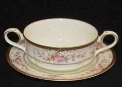 Noritake Fine Bone China Cream Soup Cup And Saucer Brently Pattern 9730
