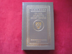 Ian Fleming - Secret Service - Signed By James Bond And Quotation - Easton Press