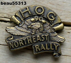 Harley Owners Group Hog 1990 Northeast Rally Vest Badge Hat Pin Pins