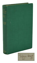 The Common Reader Signed By Virginia Woolf New Edition 1933 Hogath Press